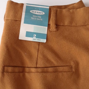 Old Navy High Rise Shorts Gold Mustard